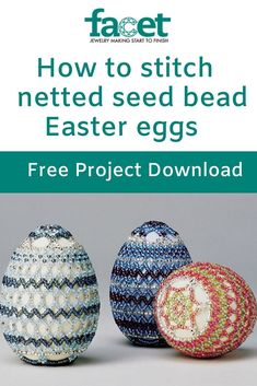 Embellish a wooden egg with heirloom lace Beaded Ornament Covers, Beaded Ornaments, Beading Ideas, Beading Patterns, Beaded Christmas Decorations, Easter Egg Pattern, Friendship Bracelets With Beads, Easter Egg Designs, Easter Stuff