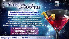 Hotel Mulino Grande si trasforma in uno straordinario e intrigante salotto dove gustare un aperitivo accompagnato da Matteo Pavesi il nostro esperto astrologo, blogger, conduttore di Radio R101.