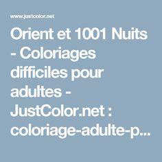 Orient et 1001 Nuits - Coloriages difficiles pour adultes - JustColor.net : coloriage-adulte-paisley-difficile