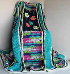 Afghan  Handmade Crochet Blanket  Teals with by SnugableTouches, $100.00