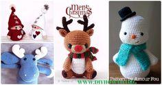 Amigurumi Crochet Christmas Softies Toy Free Patterns