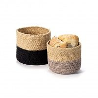 The Art of the Table - Woven Bread Baskets (Set of Basket Weaving, Decorative Accessories, Flower Pots, Baby Shoes, Bread Baskets, Handmade, Collection, Basket Braid, Hand Made