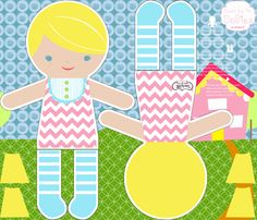 Blonde Chevron Sewn by Me Dolly fabric by natitys on Spoonflower - custom fabric