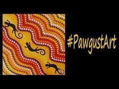 Acrylic Painting  - Lizard Dot Art - #PawgustArt #Painting Child Teaching, Acrylic Painting For Beginners, Aboriginal Art, Dot Painting, Dots, Crafty, Youtube, Fun, Stitches
