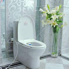HESHE Bathroom Smart Toilet Seat Bidet Intelligent Toilet Flushing Sanitary Device at Banggood