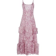 Carolina Herrera Embellished Panel Printed Dress (316,365 DOP) ❤ liked on Polyvore featuring dresses, purple camisole, cami dress, purple dress, embellished dresses and scoop neck dress