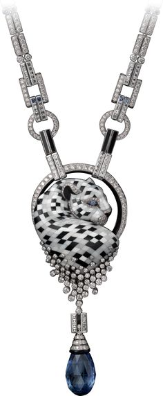 Discover the precious necklaces of the Panthère de Cartier jewellery collection that stand for beauty, originality and rebellion. Cat Jewelry, Gems Jewelry, High Jewelry, Animal Jewelry, Jewelery, Jewelry Accessories, Jewelry Necklaces, Jewelry Design, Bracelets