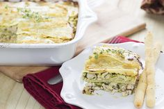 """A twist on the traditional dish, this white lasagna is both hearty and flavorful! It uses white sweet potatoes as its """"noodle,"""" and is a wonderful dish to serve to guests, or freeze ahead for an easy meal! Thank you all for voting on this week's recipe on my Facebookand Instagram! You chose the AIP […]"""