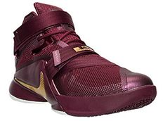 2b98ee82a77 Nike Men s Synthetic Lebron Soldier Ix Basketball Shoe 10.5 D(M) US Deep  Garnet Gold  Amazon.co.uk  Shoes   Bags