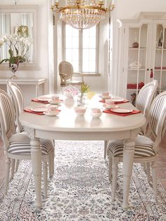 Swedish Gustavian style dining room