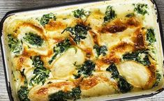 Gratin of Potatoes and Spinach WW - vegetarian Veggie Recipes, Vegetarian Recipes, Healthy Recipes, Plats Healthy, Weigh Watchers, Gratin Dish, Easy Smoothie Recipes, Healthy Smoothie, Vegan Blueberry
