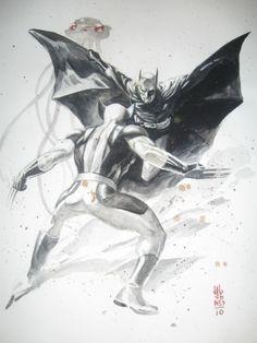 Batman vs Wolverine by J. G. Jones