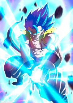 Gogeta Kamehameha Aura by HiroshiIanabaModder on DeviantArt Epic Characters, Fantasy Characters, Godzilla, Goku Black Ssj, Boruto, Dbz Wallpapers, Son Goku, Fantasy Character Design, Sword Art Online