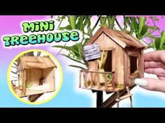 Mini Treehouse Tutorial // DIY Miniature Doll Playhouse - YouTube