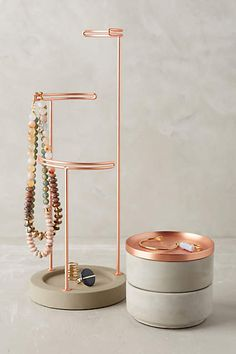 I bet i could make something this cool... $48 Tesora Jewelry Storage Collection - anthropologie.com
