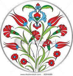 Ottoman tulip and carnation motif