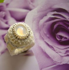 wedding crochet ring