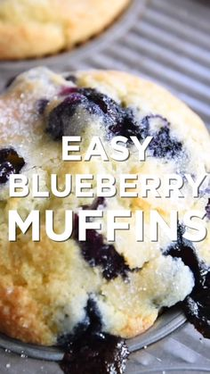 You only need one bowl to make this easy blueberry muffins recipe with blueberries, flour, sugar, vanilla, and vegetable oil. We've been making these muffins for years and are always happy that we did. desserts Quick and Easy Blueberry Muffins Easy Blueberry Muffins, Blue Berry Muffins, Mini Muffins, Blueberry Cheesecake, Blueberry Cake, Easy Blueberry Desserts, Easy Breakfast Muffins, Homemade Muffins, Easy To Make Desserts
