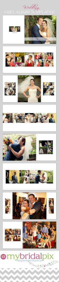 FInd all your needs for a DIY #wedding #album at www.mybridalpix.com. Why pay a pro when you can do it yourself and save hundreds of dollars in the process. Simply drag and drop your images into ready made templates. #DIY #WeddingAlbum #PhotoBooks #Album Templates