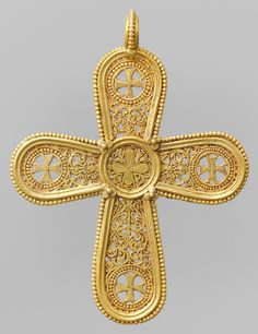 Byzantine Gold Pectoral Cross, c. 6th - 7th century
