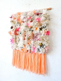Furry Little Treasures // Handwoven Tapestry Wall by jujujust