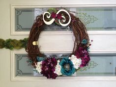 The DIY wreath I made for my front door :) love!
