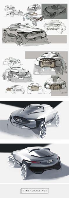 audi cuv by hj lee on Behance Lamborghini, Bike Sketch, Concept Draw, Sketching Techniques, Plan Sketch, Presentation Layout, Transportation Design, Id Design, Automotive Design