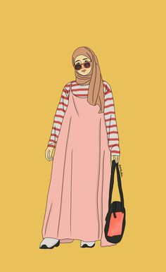 @niningxx 😏😎🎨🎨 #girl #selebgram #fashionhijab #illustration Fashion Model Drawing, Fashion Design Drawings, Fashion Sketches, Hijab Fashion Inspiration, Style Inspiration, Hijab Drawing, Fashion Art, Fashion Outfits, Anime Muslim