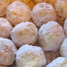 Pecan Balls (Christmas Cookies) | The best way to get finely ground pecans is to put the sugar in the processor with the pecans.