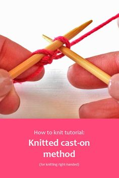 The knitted cast-on method creates a loose edge that is perfect for starting lace knitting or to use for picking up stitches.