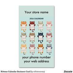 Kittens Calendar Business Card