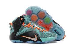 big sale 0abfc d8b4f Nike LeBron 12 P.S. Elite Jade Orange