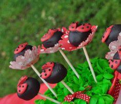 Cake pops at a Ladybug Party #ladybug #party