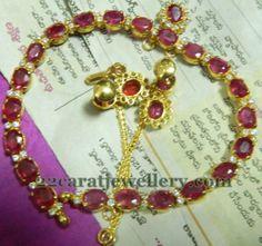 Jewellery Designs: Large Rubies Choker and Earrings