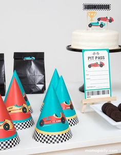 Race Car Party Hats (Set of 12) – Momo Party Race Car Party, Race Cars, Car Themed Parties, Mylar Balloons, Modern Kids, Party Hats, Best Part Of Me, Party Themes, Racing