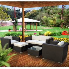 This outstanding outdoor sectional set is perfect when entertaining or for everyday relaxation, this modular sofa set can be moved or adjusted in many of configurations, including moving seats apart for separate chairs or putting them together for an intimate sofa seating. This sophisticated modern outdoor wicker sofa set combines value and style.