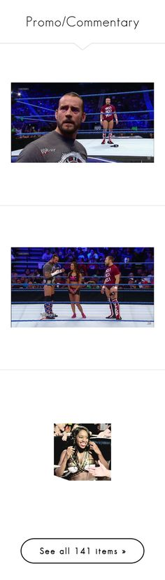 """""""Promo/Commentary"""" by leeandbulletfan ❤ liked on Polyvore featuring the bella twins, manip, wwe, wwe couples, misc, manips, aj lee, paige, pictures and wrestle"""