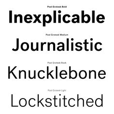 Post Grotesk | Typeface Review | Typographica
