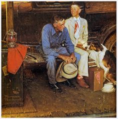 1954- Breaking Home Ties - by Norman Rockwell
