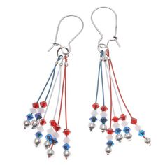 These earrings invoke memories of hot July fourth evening barbecues, the children waving their sparklers, creating magical patterns of light in the air.