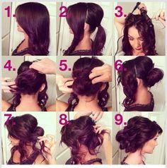 Messy low bun for a glamorous look. #hair #bun