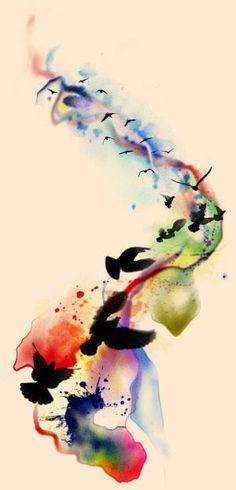 watercolor tattoos - Google Search by tabu-sam