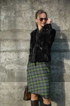 #TartanSkirt #VivienneWestwood  A 40+plus fashion blog for grown-up women where So Cal ease meets European Style.