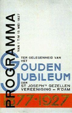 Paul Schuitema - Cover for anniversary program, 1927