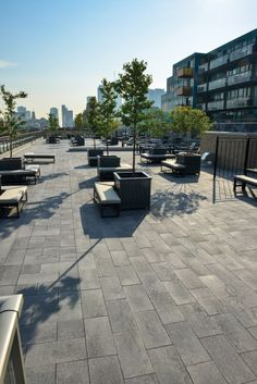 Unilock - Queen & Portland rooftop with Umbriano paver in Ontario
