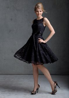 Teatro black lace prom dress