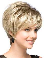 Natural Light Blonde Straight Short Hair Wigs Short Women's Fashion Wig