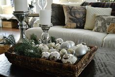 Pretty coffee table centerpiece