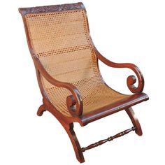 C West Indies Regency and Cane Campeche Chair Indian Furniture, Rattan Furniture, Furniture Styles, Modern Furniture, Furniture Ideas, British Colonial Decor, British West Indies, Campaign Furniture, Colonial Furniture