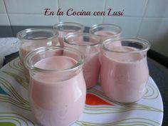 En la cocina con Lusi: Yogur de fresas y queso